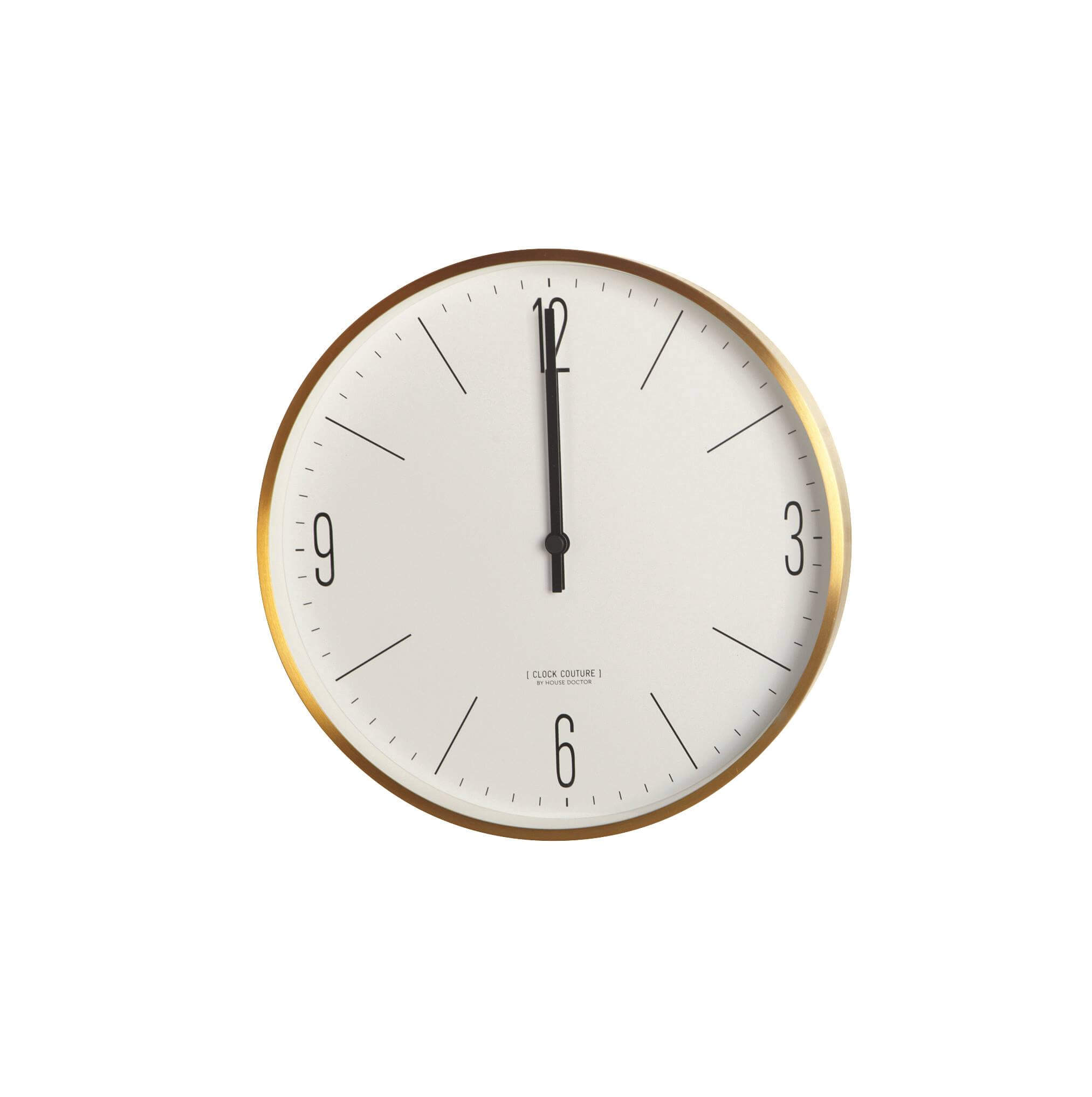 house doctor wall clocks gold white color. Black Bedroom Furniture Sets. Home Design Ideas