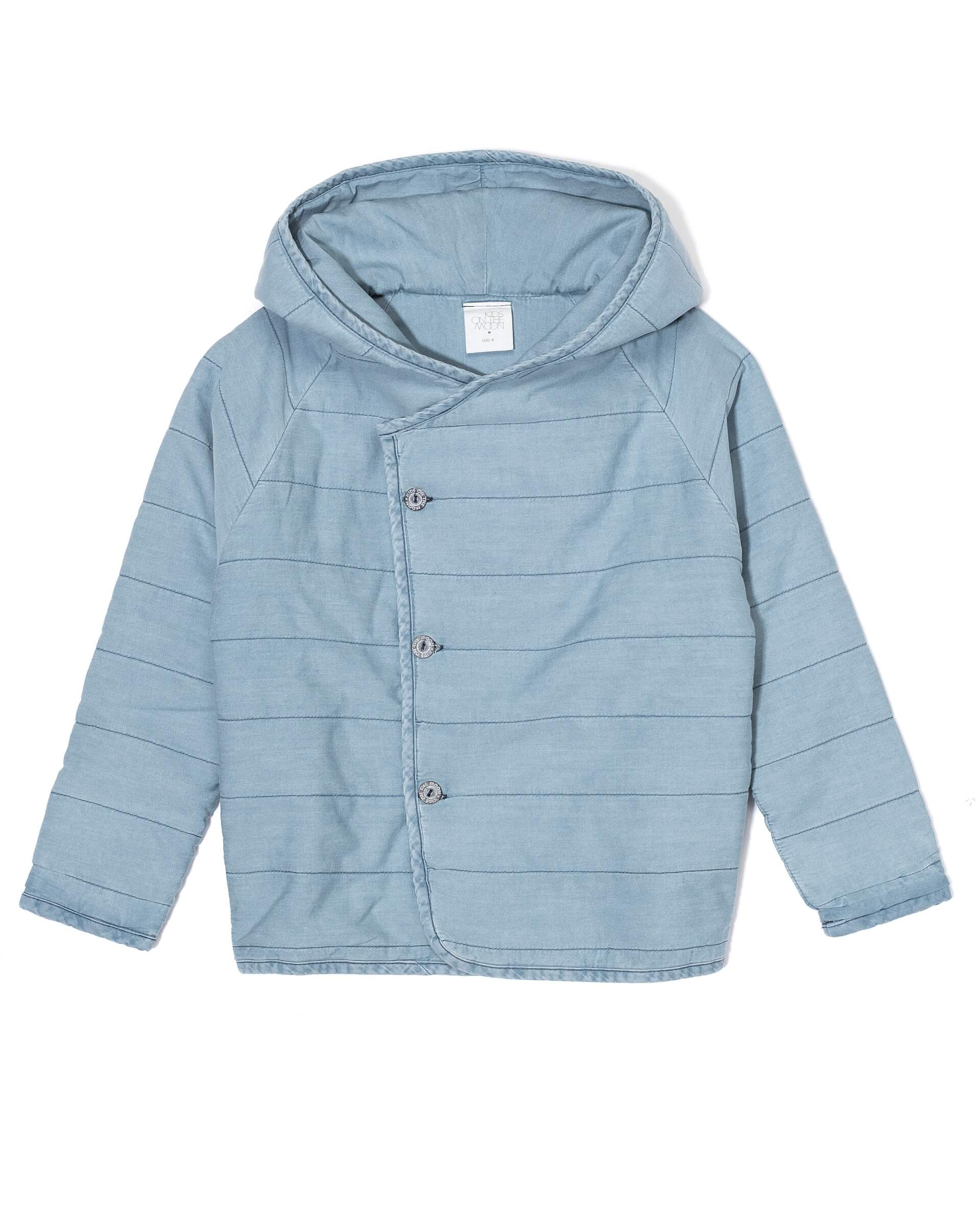 4b6db65d Kids on the moon - Denim Quilted Hoodie | MyLittleCeleb