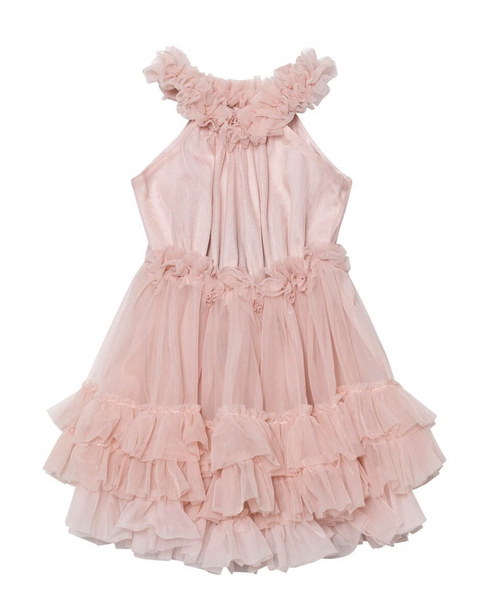 Ballet Pink Ruffled Chiffon Dress Dolly By Le Petit Tom