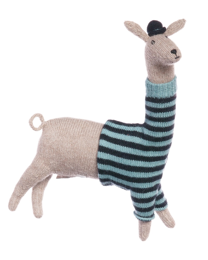 Llama Baby Alpaca Hand Knitted Toy, Waddler UK MyLittleCeleb