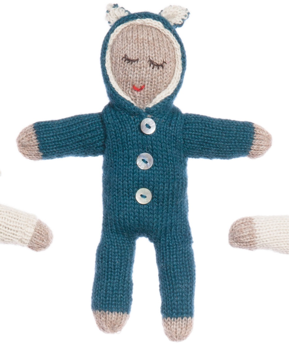 Dream Doll Set Baby Alpaca Hand Knitted Toy, Waddler UK MyLittleCeleb
