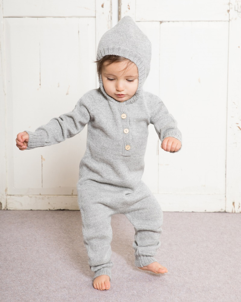 180aad5bf Light Grey Hooded Onesie Waddler UK Clothing