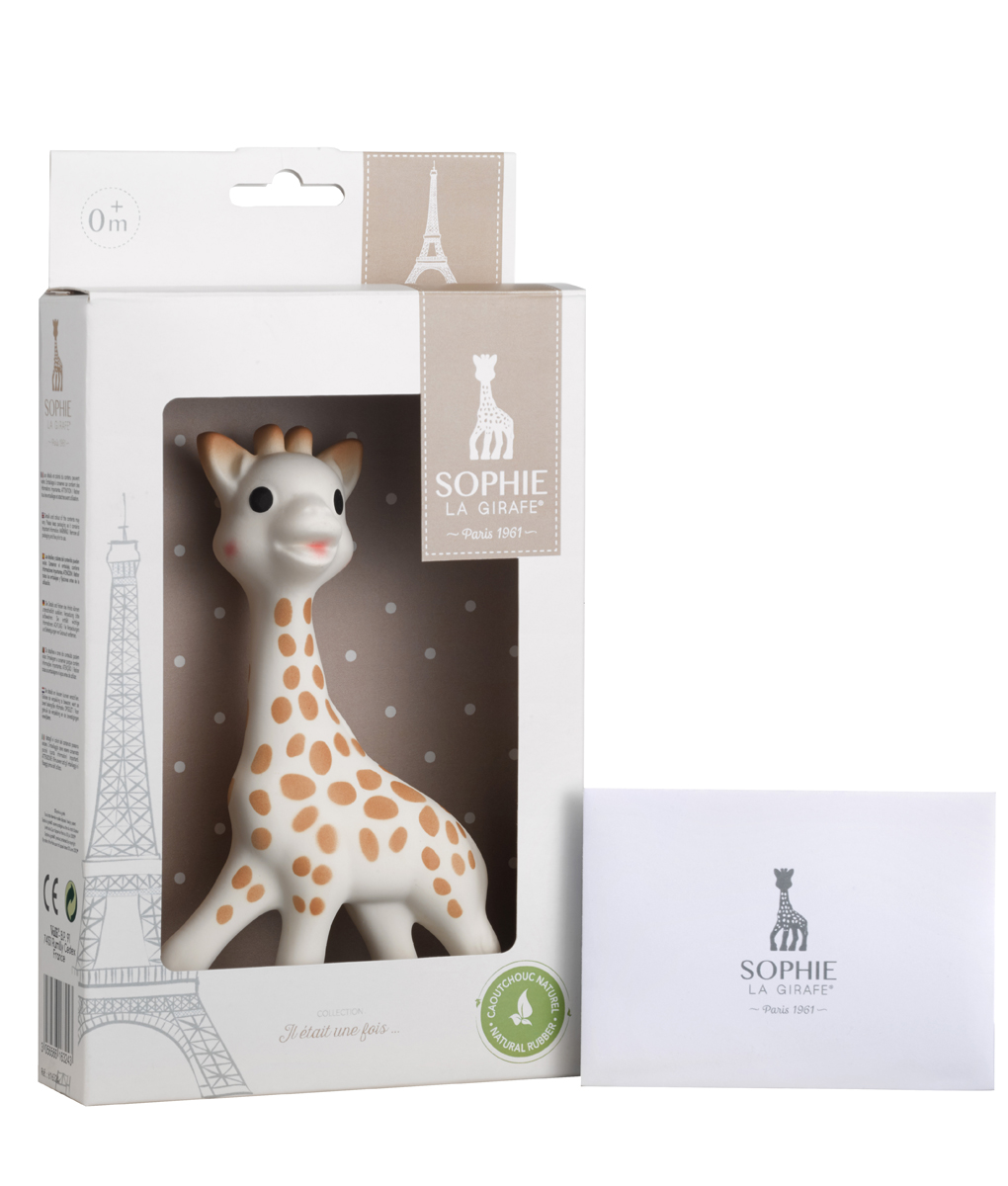 sophie la girafe in white giftbox mylittleceleb. Black Bedroom Furniture Sets. Home Design Ideas